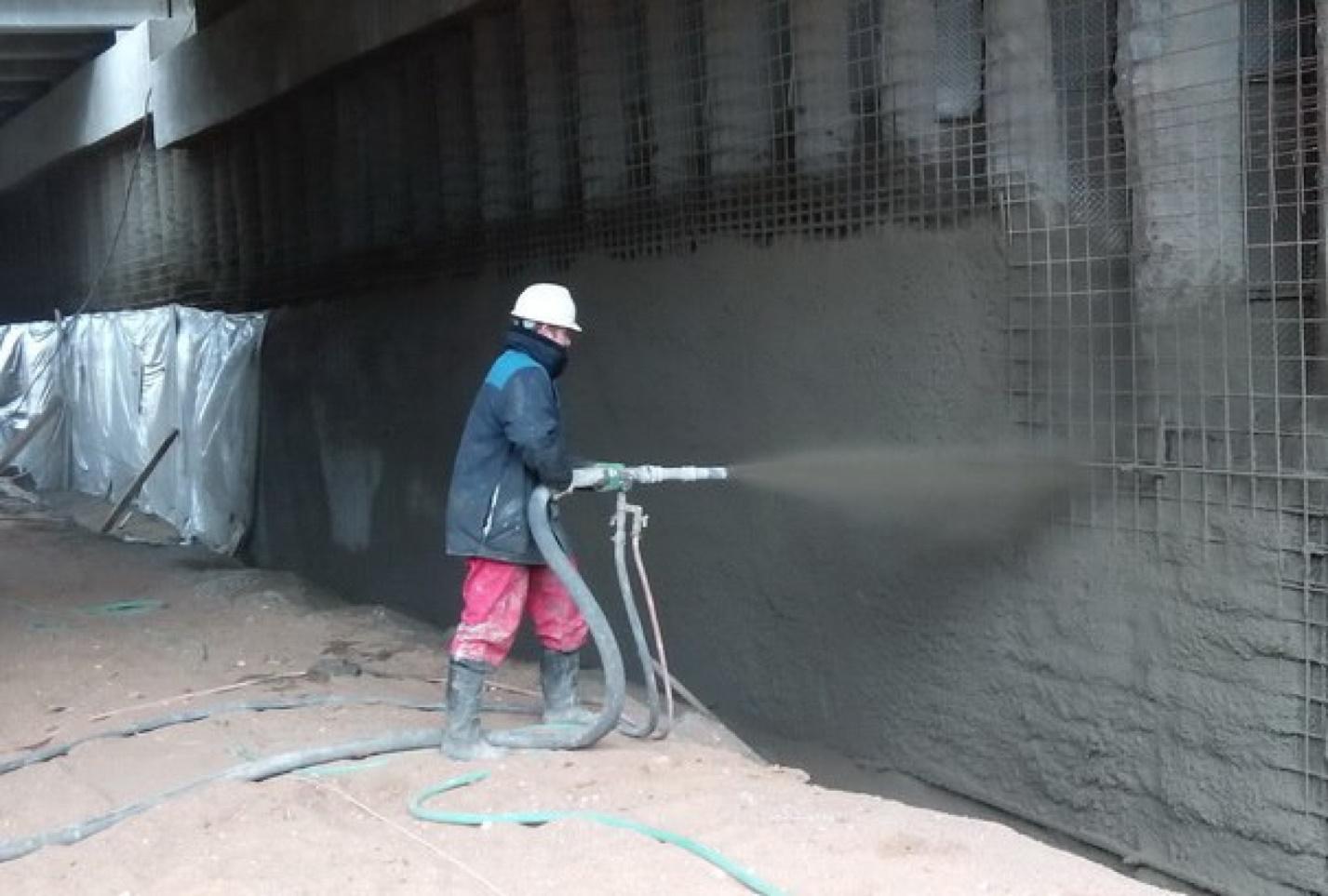 Торкрет (набрызг) бетон, торкретирование бетона: что это такое, технология