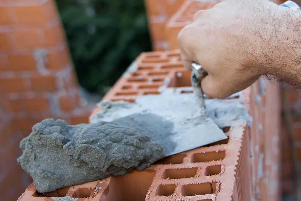Расход цементно-песчаной смеси (ЦПС) на 1 м3 кладки кирпича и блоков
