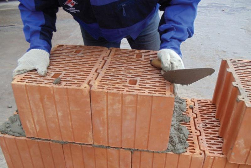 Теплый раствор для кладки керамических блоков