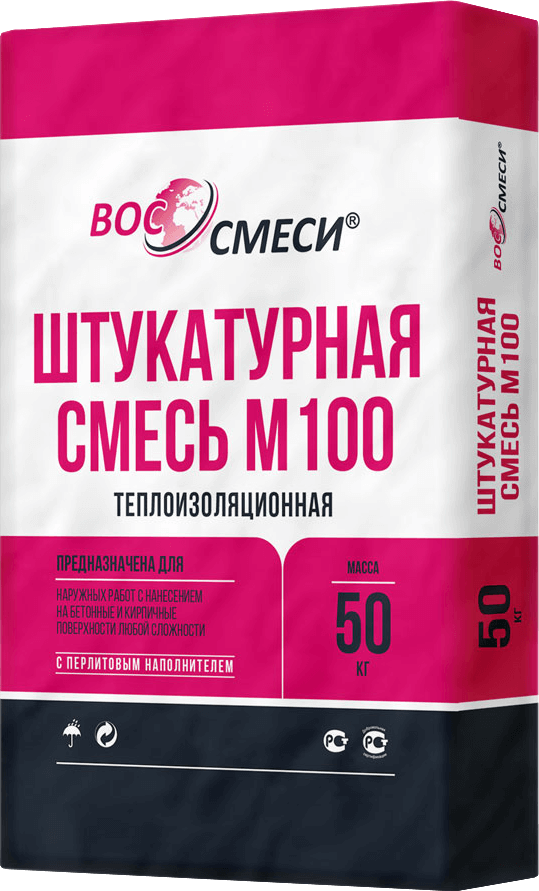 Штукатурная смесь М100 (теплоизоляционная)